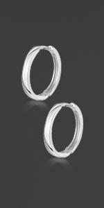 Silver Sleeper Hoops 20mm