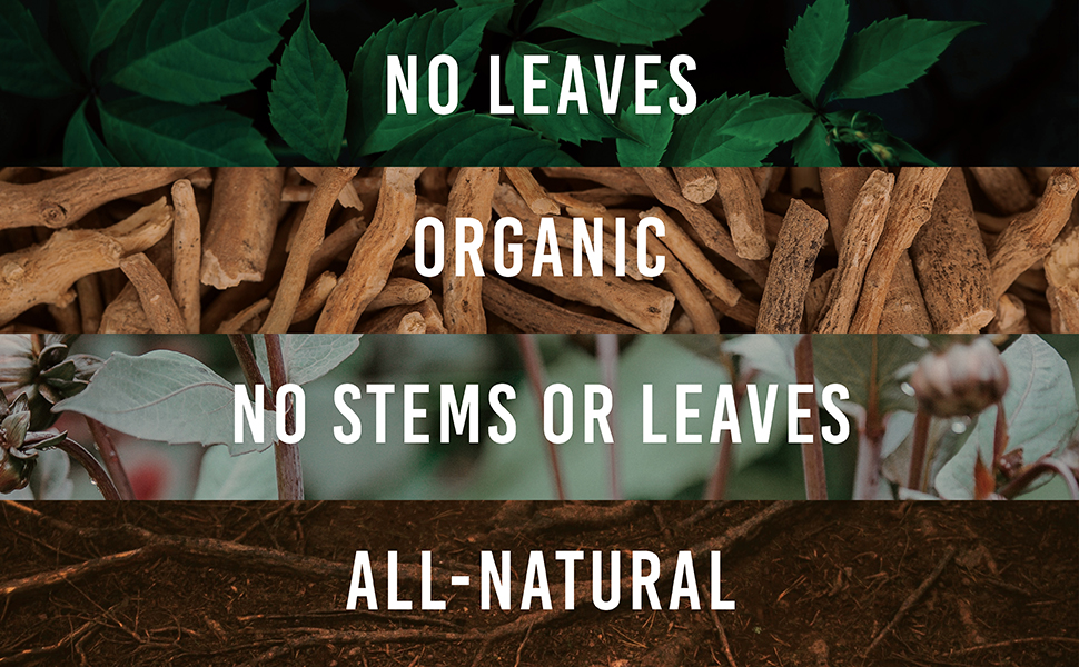 no leaves organic no stems all-natural