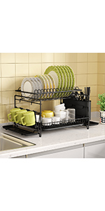 Cutting Board Holder and Dish Drainer for Kitchen Counter