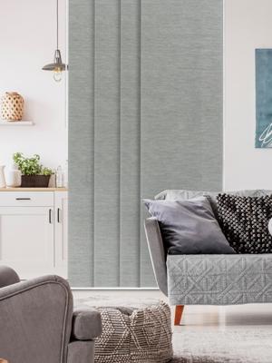 sliding panel track blind room divider gray grey