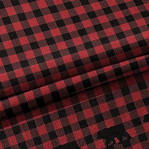 Red Black bufflo curtain
