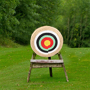 50 x 50 x 5cm Hand-made 3 Layer Shooting Target for Outdoor Sports Shooting Practice AUPERTO Traditional Solid Straw Round Archery Target