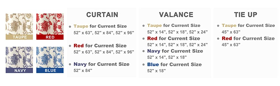 color size options