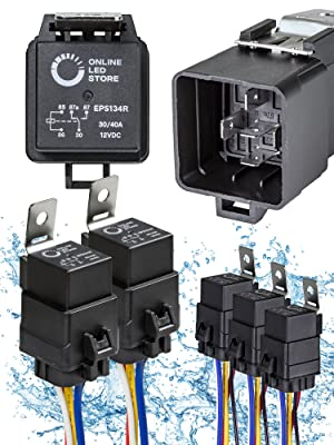 5pc 40/30A 5-Pin Waterproof Relay Kit