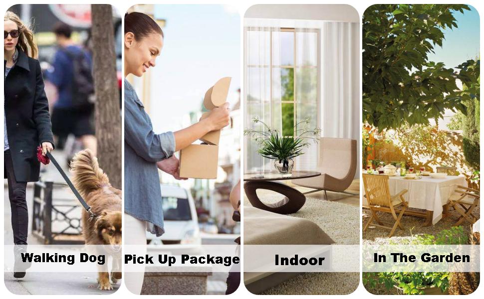 5-1 Walking Dog 5-2 Pick Up Package 5-3 Indoor 5-4 In The Garden