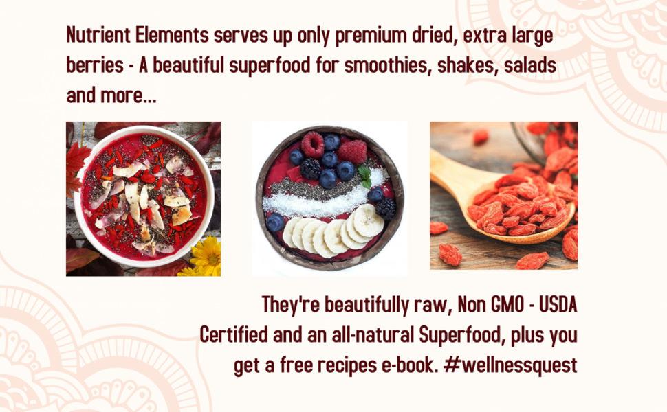 Nutrient Elements, premium dried goji berry