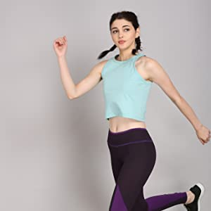 Women Cotton Sleeveless Racerback Tank Top Camisole Sports Crop Top Daily Wearing Ladies Workout
