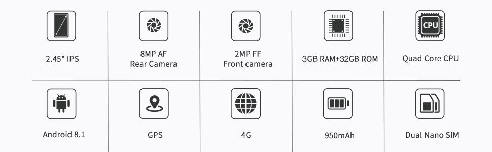 Unihertz Jelly Pro, el Smartphone 4G más pequeño del Mundo, Android 7.0 Nougat teléfono Inteligente Desbloqueado con 2 GB RAM y 16 GB ROM: Amazon.es: Electrónica