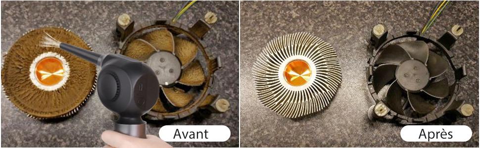 Puissant épurateur d'air électrique sans fil