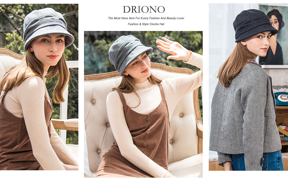 driono classic 1920s retro style fashion style hats