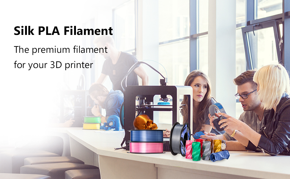 tangle free silk pla filament 1kg