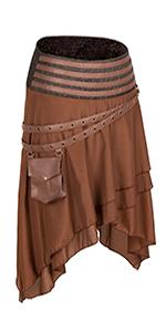 brown steampunk skirt