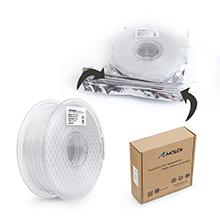 PETG White with Light Shading Feature +//- 0.03 mm AMOLEN 3D Printer Filament 1.75mm Includes Sample PETG Light Transmission Filament 1KG