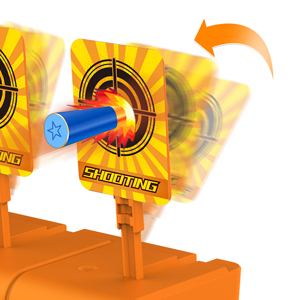 Auto reset digital shooting targets