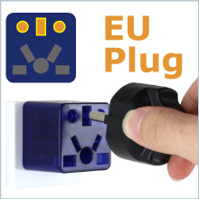 Euro Italy Germany France plug adapter adaptor to USA Outlet Socket Travel adaptor charger small