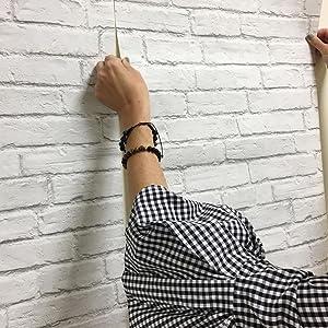 nextwall wallpaper, wallpaper, peel and stick, nextwall, brick wallpaper, wallpaper installation
