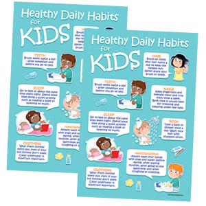 School Nurse Office Posters - Kids Healthy Habits Hygiene Posters