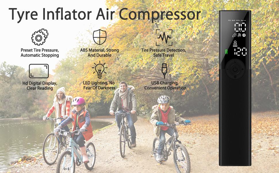 New Bicycle High Pressure Air Stick Inflator Mini Manual Multi-purpose Pump