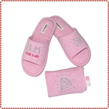 Women's Open Toe Slipper Slip-on House Shoes with Beautiful Gift Bag