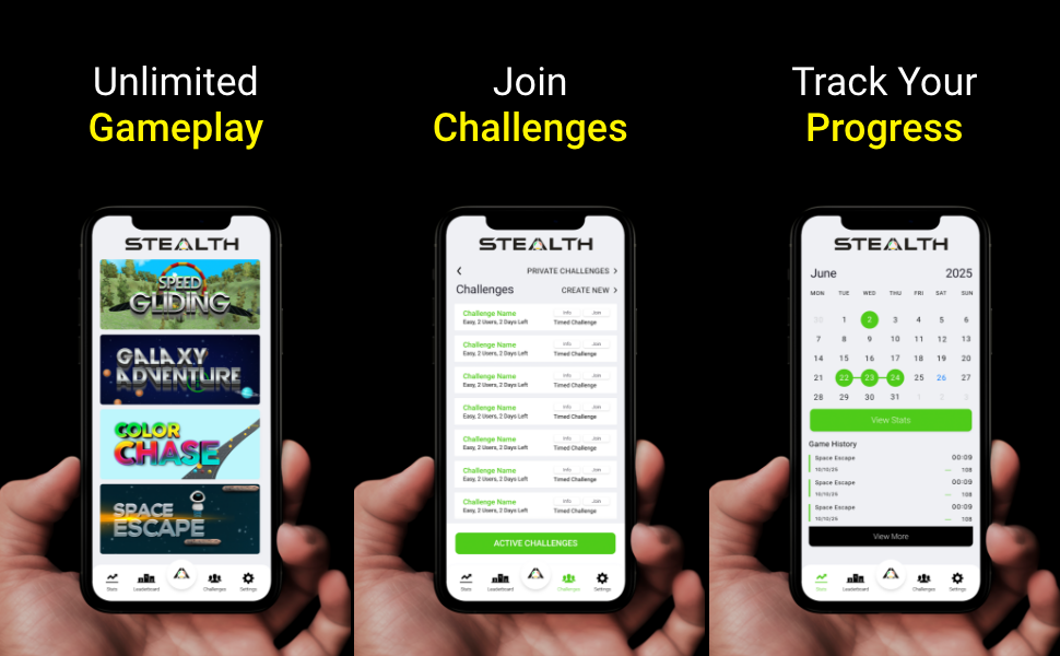 App Gameplay Challenges Progress Track