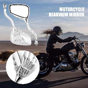 Universal Skull Hand Motorcycle Rear View Mirrors fit for Harley Honda Kawasaki Suzuki Yamaha Ducati