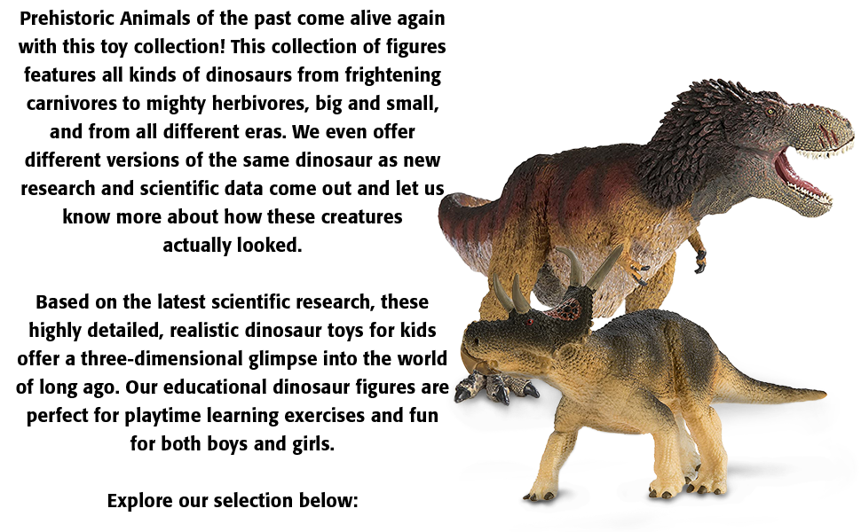 Safari Ltd for Ages 3 and Up Lead and BPA Free Materials Carnotaurus Prehistoric World Quality Construction from Phthalate