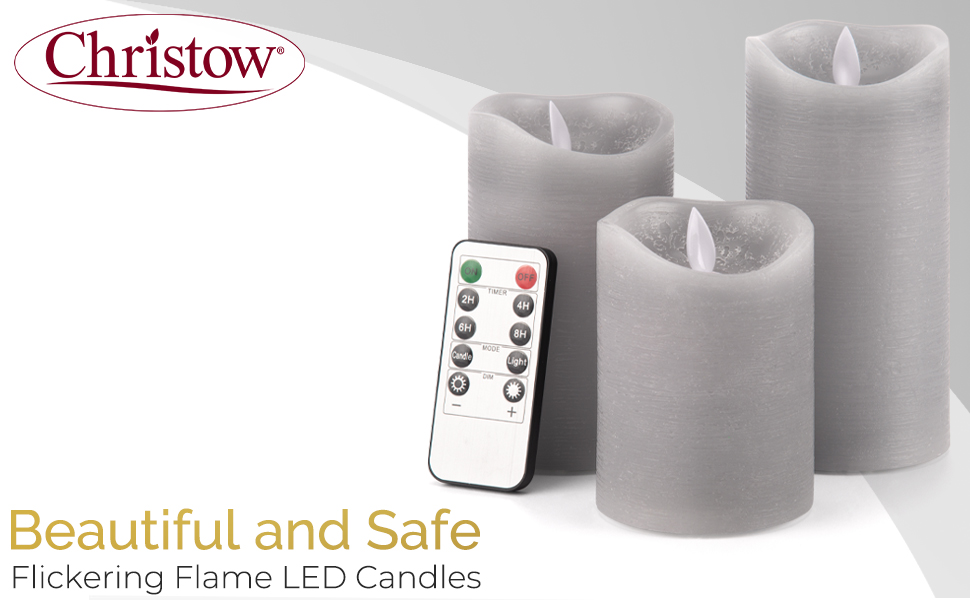 beautiful and safe flickering flame led candles christow flaming light control realistic cosy best