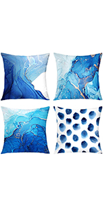 gold pillow covers blue sofa pillows decorative sets of 4 marble throw pillow silver pillow covers