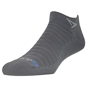 Large, Graphite Heathered 2 Pair . Drymax Running Lite-Mesh Sock- Packaged No Show Tab