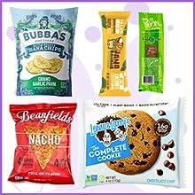 Vegan snack box assortment