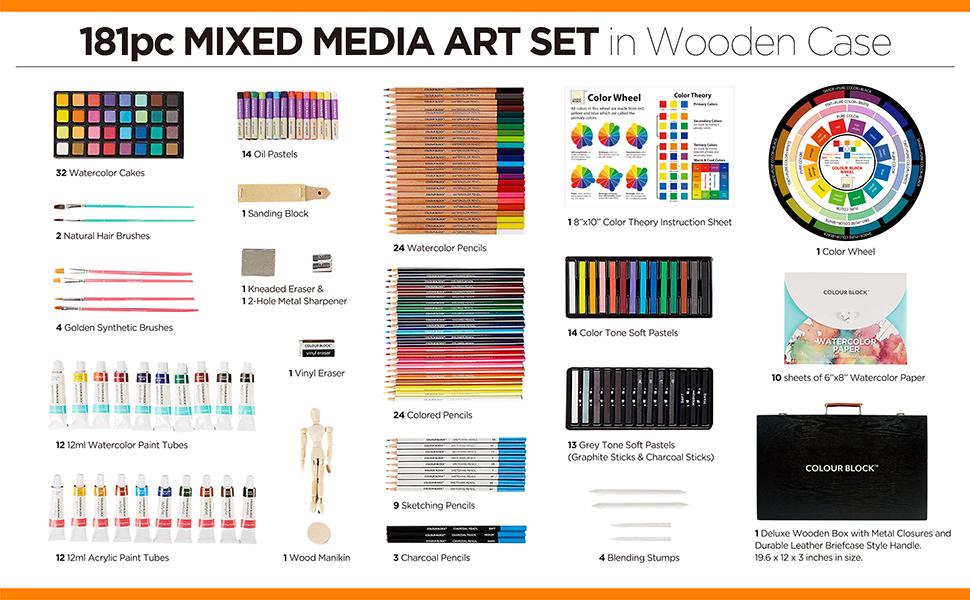 colored watercolor sketch pencil pencils soft pastel oil pastel chalk pastel acrylic paint tube