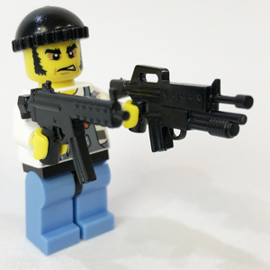 LEGO 6 NEW AMERICAN GANGSTER MOBSTER MINIFIGURES WITH GUNS PIECES