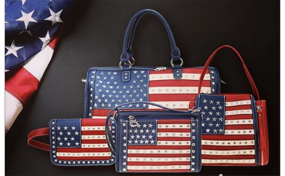 american flag patriotic purses and handbags for women crossbody tote shoulder bags wallets red navy