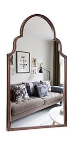 Brushed Metal Wall Mirror