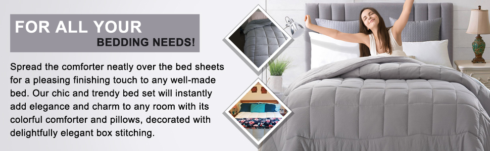 Twin bed sheet and pillow set.