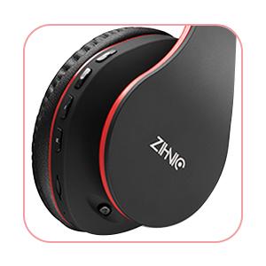 zihnic Auriculares Bluetooth Inalambricos, Cableados con Micrófono Plegables Estéreo Cascos Inalambricos Bajos Profundos para TV/PC/Teléfonos ...