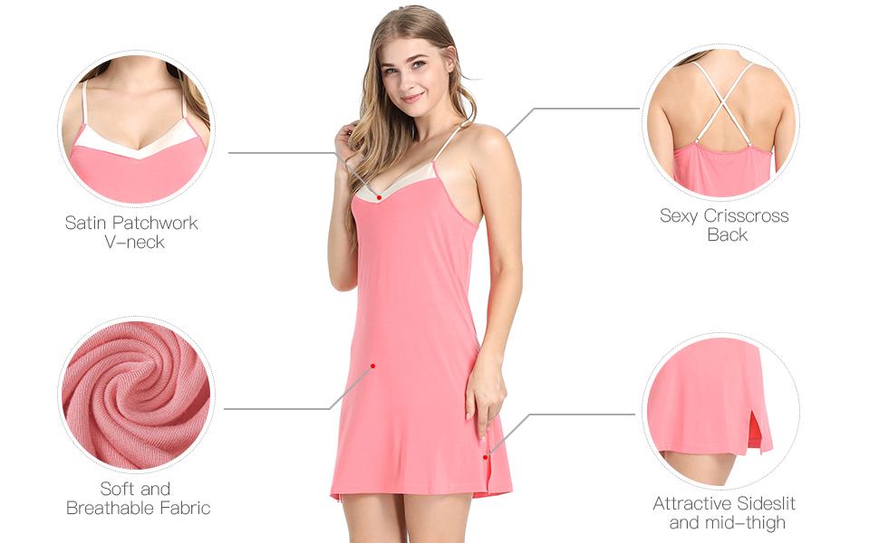 Slip Pajamas Dress