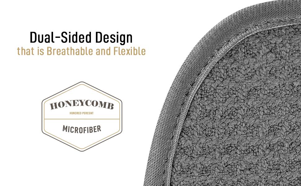 zulay kitchen microfiber dish drying mat polyester lining reversible design holding glassware
