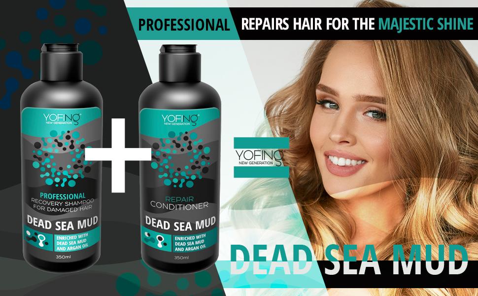 yofing mud shampoo, dead sea mud shampoo, yofing recovery shampoo for damaged hair