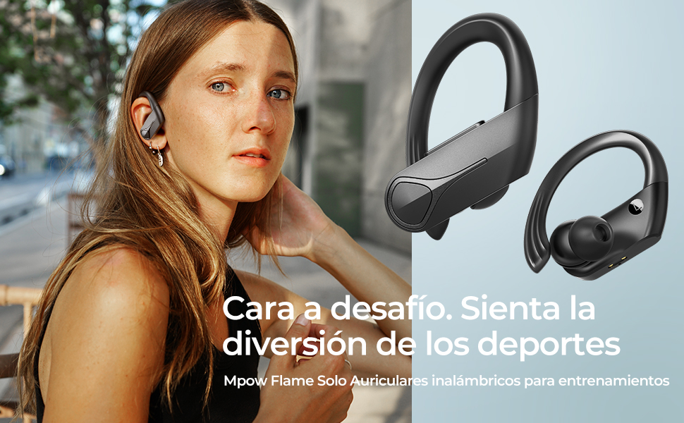 Auriculares Inalámbricos Deportivos,Mpow Flame Solo Auriculares Bluetooth con Micrófono Auriculares