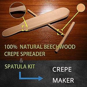 Wooden Crepe Spatula