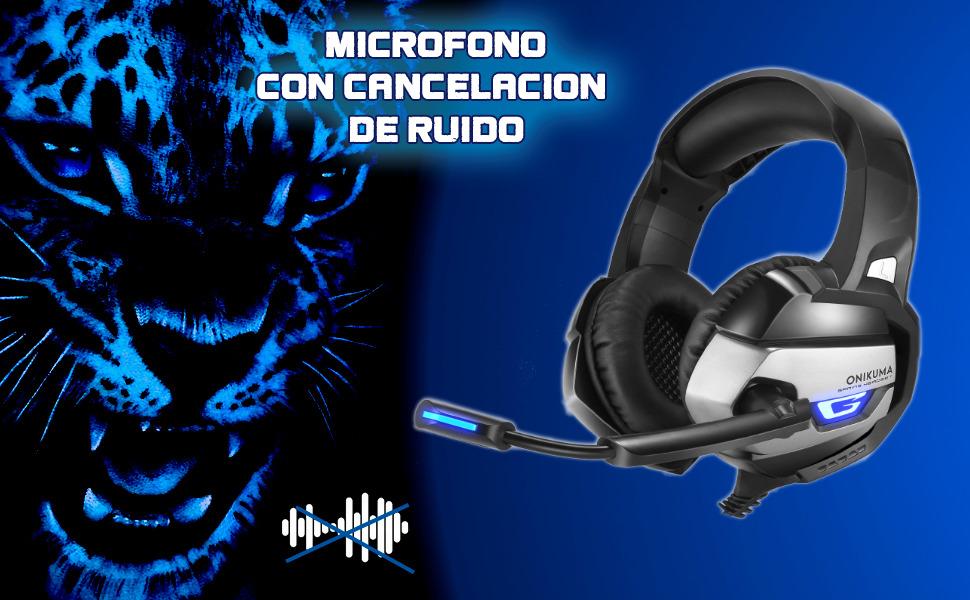 auriculares onikuma k5, cascos gaming onikuma k5, auriculares para ps5, auricular para playstation 5