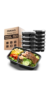 2compartment meal prep containers