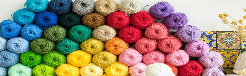 colorful yarn winder