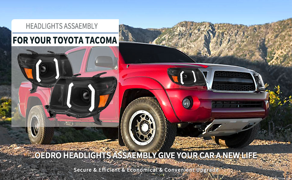 Projector Headlights Assembly for Compatible with 2005-2011 Toyota Tacoma