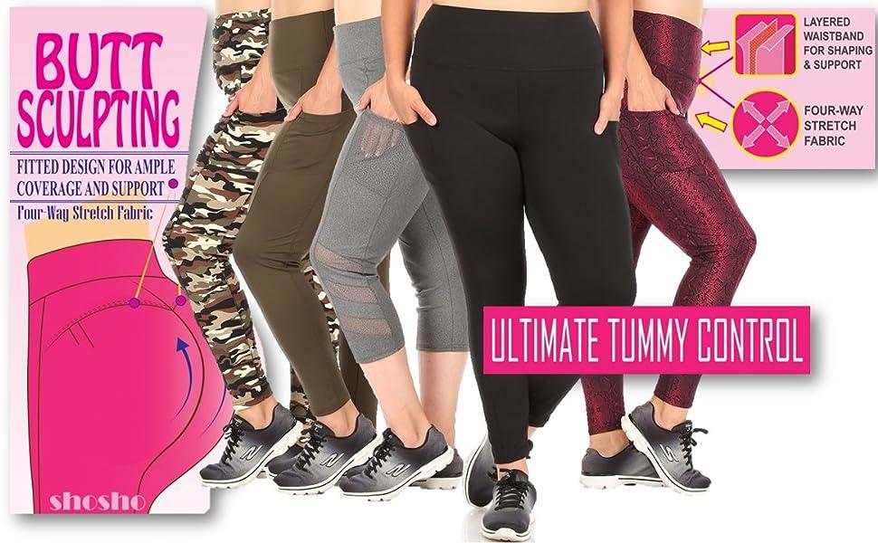 Plus size Yoga leggings,pocket leggings plus,Capri Yoga bottoms,plus size biker shorts,sports,casual