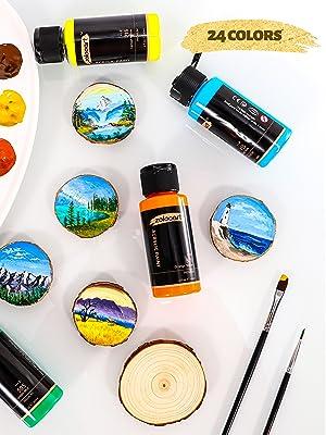 24 acrylic paint classic colors