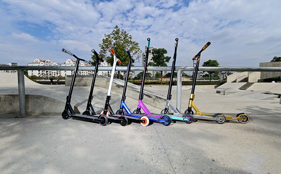Albott Pro Stunt Scooter complete Trick Scooter Aluminium Niveau D/'entrée Freestyle