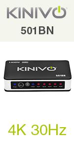 Kinivo 550bn 4K hdmi switch 501BN 5X1 hdmi switch 3x1 3-port hdmi switch 5-port Zettaguard UGREEN