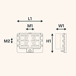 Amazon.com: 6 Way Blade Fuse Box for Automotive [ATC/ATO Blade Fuses] [100  Amp][LED Indicator] [Protection Cover] [10-30V DC; 12V] Auto Marine Fuse  Block: AutomotiveAmazon.com